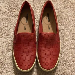 Clark's Women's DanellyMolly LoaferDarkRed Leather